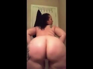 Pawg fucking her dildo.