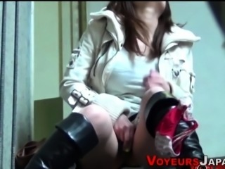 Asian toys cunt in public
