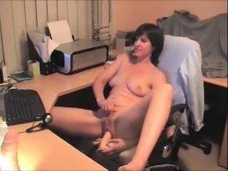 Amateur Brunette Girl Anal Pussy Dildo Masturbation Solo
