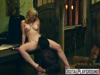 Kayden Kross - Sexy Blonde boss wants her pussy licked
