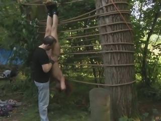 Humiliation techniques of Lora Summer's master make her cum hard