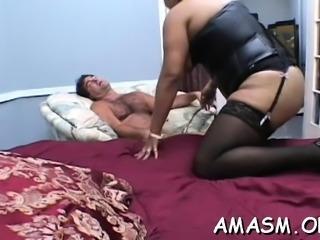 Superb scenes of female domination on a large knob
