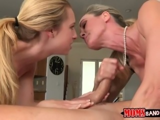 Perverted blond wife loves to watch how her husband fucks young blonde
