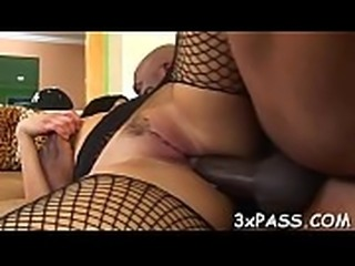 Anal of sexual bitch is stuffed by large dark piece of meat