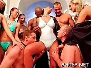Crazy bitches get blasted and then screwed by hung dudes
