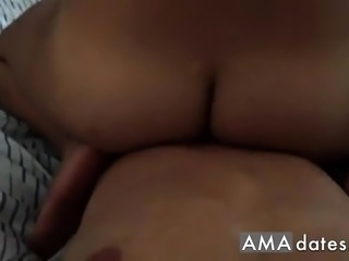 Homemade POV reverse cowgirl ride + doggystyle