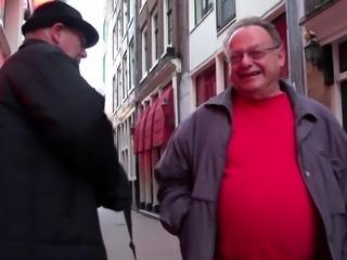 Real hooker fucks old man