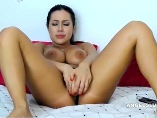 Sensual Brunette Masturbating Like Crazy