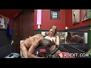 Wicked babe gets licked, sucks and bonks in lots of poses