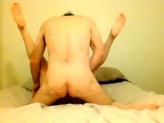 Fat mature brunette hangs on for an intense ride of fucking