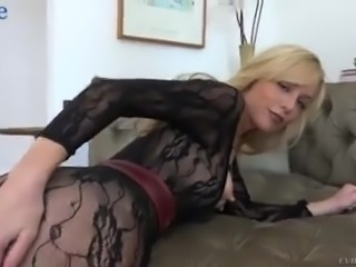 Curvaceous blond head Kayden Kross wanks dick before some good anal