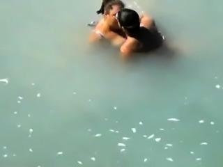 Curvy mature brunette enjoying a wild fucking on the beach