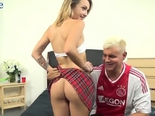 Pallid chick with small tits MADDISON CALLAWAY begs dude to fuck her doggy