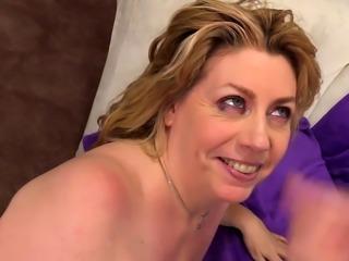 Granny Penny Sue Enjoys a Stiff Cock