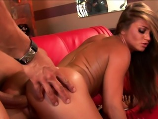 Kinky babe loves to munch on his staff