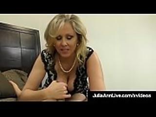 Cock Craving Cougar Julia Ann Gives Lucky Cock Handjob &amp_ BJ!