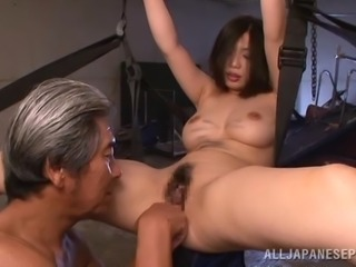 Cute Hikari Hino Gets Her Pussy Fingered Hard By An Old Man