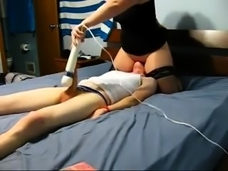 Femdom fetish humiliation slut handjob and fuck