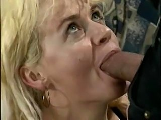 mature blonde in anal action