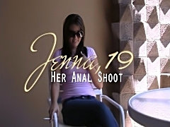 College student Jenna does anal for money
