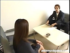 Japanese office gal gets bukkaked Japanese female boss gets bukkaked