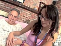 Young nurse helps old men with sex problem