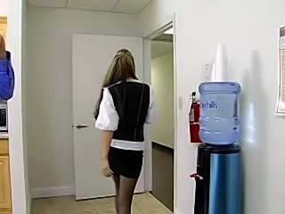 Ryder Skye follows a guy into the restroom then she see's he has a big dick...