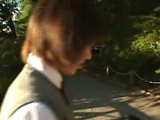Petite japanese teen enjoying being finger and fucked by older men.