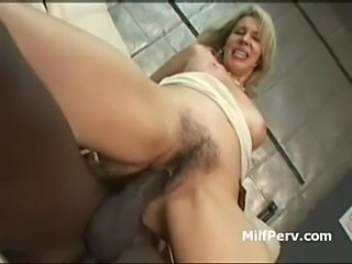 Horny hot ass cougar blonde fucked by huge black cock  free