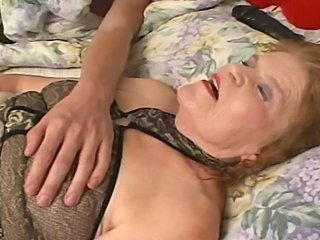 Big Fat Butt Granny gets extremely horny