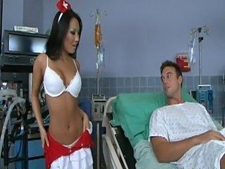 Asa akira nurse does her job  free