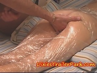 Wrapped in TAPE, Butt Fucked and Impregnated MILF