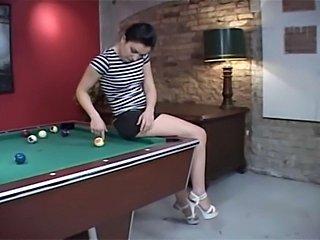 Famous Austrian pornstar Renee Pornero fucked in the ass on pooltable p.s.:...