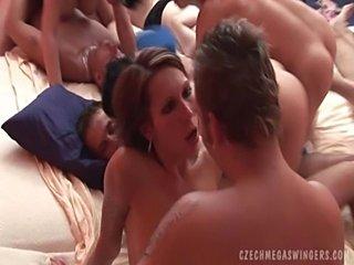 Biggest swingers orgy  free