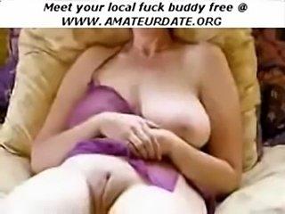 Amateur mature big boobs vibrator masturbation  free