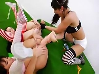 Alisya and Isabella Clark Playing Anal Golf