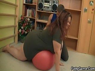 Bbw fucks her fitness instructor  free