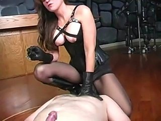 He is forced to jerk off... it all ends with a beating