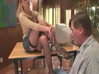 Therapist footsex with a patient with foot fetish  free