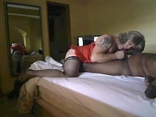 Crossdresser Sucking Black Cock