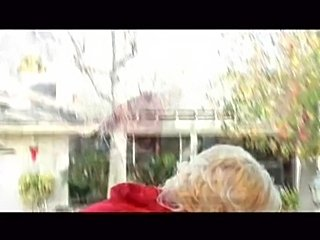 Blonde in Little red riding hood costume, goes into house full of black guys....