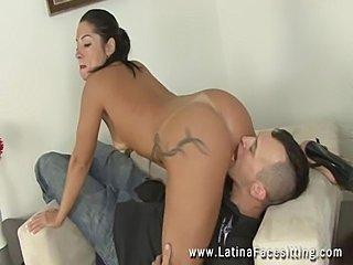 Femdom latina dominatrix nude facesitting