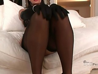 Teasing in Lingery and Nylon Stockings - xHamster.com