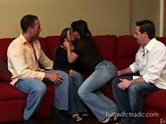 Swinger couple hot swap fun