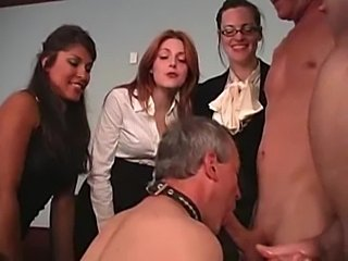 Bdsm: misstress force to suck cock to slave  free