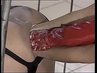 Tranny Ass Swallows Three Hands At Once!