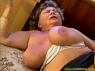 Crazy old mom gets big cock  free
