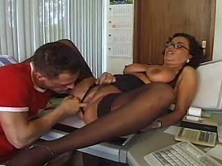 Office sex of thick hot German mature lady.