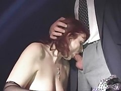 Hairy italian mature anal troia inculata takes hard cock in the ass all the...