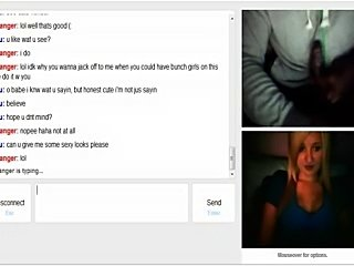 Omegle 39 (sexiest blond ever loves my cum)